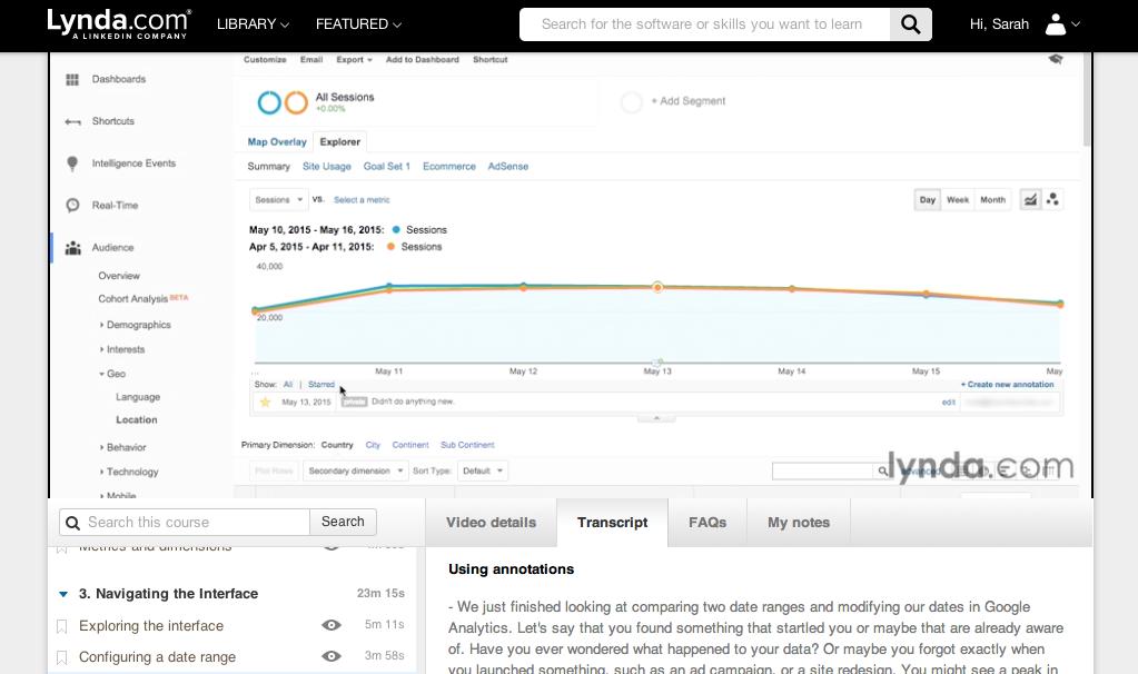 Lynda-kurs i Google Analytics