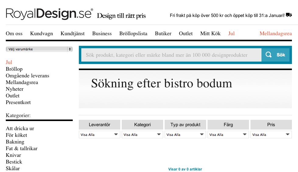 Sökning efter Bistro Bodum hos Royal Design