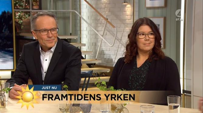 Framtidens yrken i Nyhetsmorgon, TV4