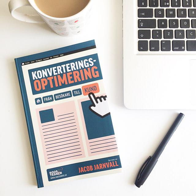 Kaffe och boken Konvertingsoptimering av Jacob Jarnvall