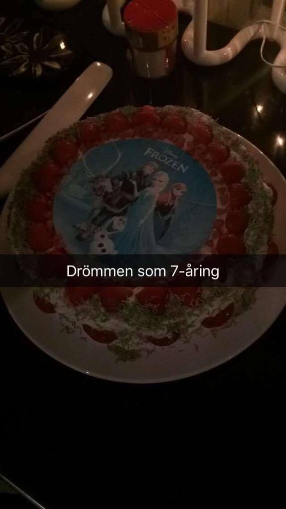 Tårta med Frozen-motiv