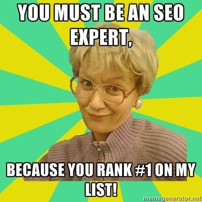 SEO-expert, rank 1 på min lista