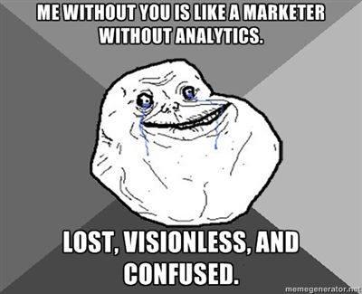 Jag utan dig är som en marknadsförare utan analytics