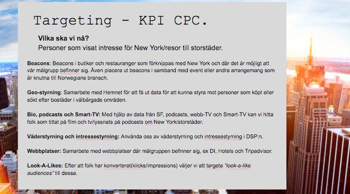 Del ur en medieplan för Norwegian